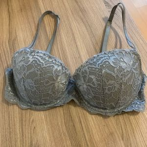 VS PINK Grey Multi-way Balconette Bra (32D)